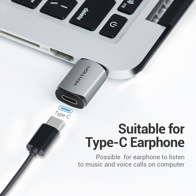Vention External USB Sound Card USB to USB C Earphone Audio Adapter Soundcard for Laptop PS4 USB Type C Sound Card Gold plating