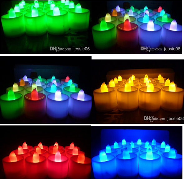 LED lights wedding tea light electronic candle lamp party event Halloween flameless flickering battery candles Home Decor gift