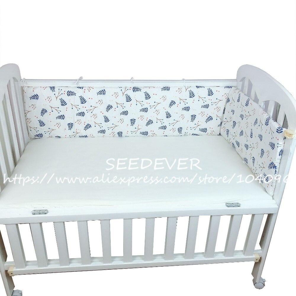 1 Pc Krippe Stoßfänger Baby Bett Stoßfänger Bett Seiten Schutz Baby Kissen Neugeborenen Baumwolle Infant Bettwäsche Set Länge 180*30 Cm Jungen Mädchen Heller Glanz
