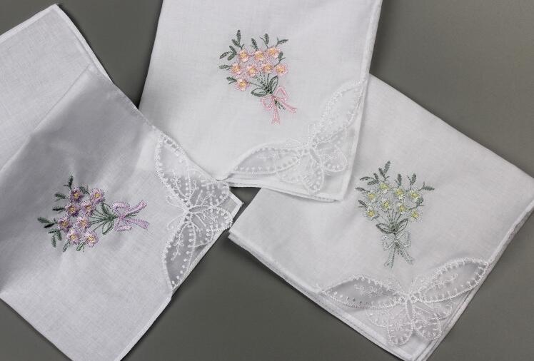Flower Handkerchief Family Handkerchief Custom Handkerchief A Gift For Parents  Bride And Groom's Handkerchief