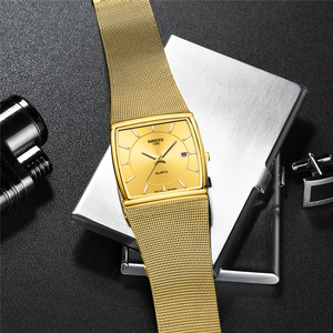 Image 3 - Nibosi relógios masculinos marca de luxo à prova dwaterproof água esporte relógio masculino casual malha ultra fina pulseira quartzo relógio pulso relogio masculino