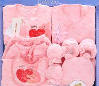 Infant Clothing Baby Underwear Sets Boys Girls Clothes Sets 2018 Autumn Pure Cotton Gift Box Suits Toddler Long Sleeve 5cs087