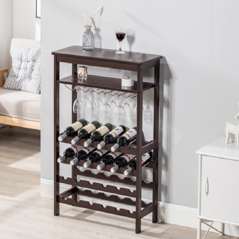 Деревянный стоячий барный шкаф винный шкаф витрина барная мебель с подстаканником Бесплатная доставка
