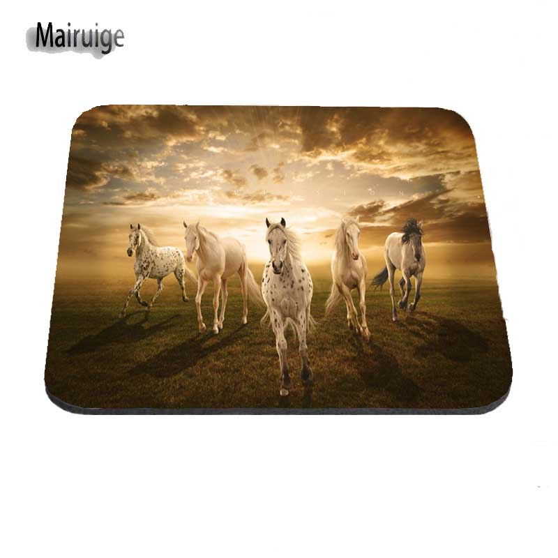 Mouse Pads Computer Peripherals Horse On Hind Legs Fashion Desk Custom Gaming Mouse Pads For Size 18*22cm And 25*29cm Lasting Computers And Laptops Mouse Pad