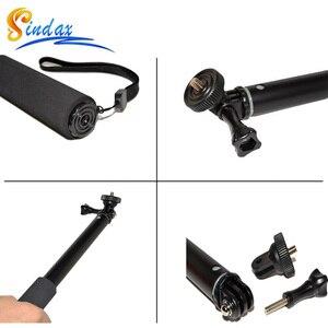 Image 5 - Wasserdicht Einbeinstativ Stativ Erweiterbar Einbein Selfie Stick Einbeinstativ für xiaomi yi 4k II 2/für SJ4000 für Gopro hero 8 5 6 7