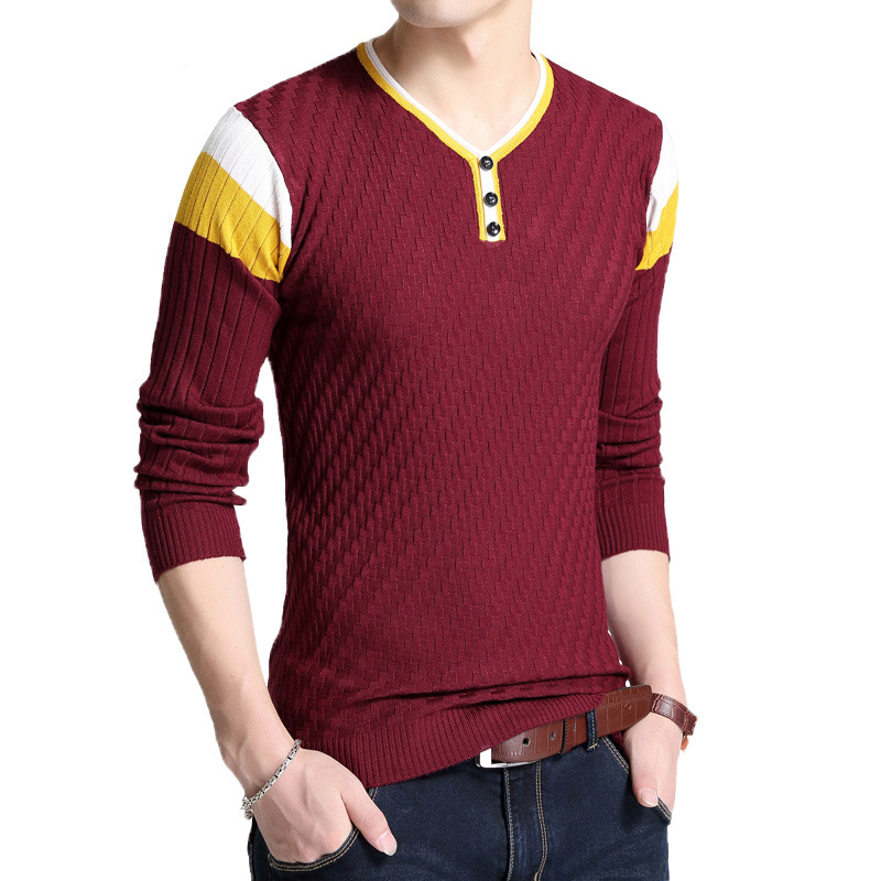 Free shipping New Fashion 2018 Spring Autumn men Wool Pullover Man Sweaters Pullovers