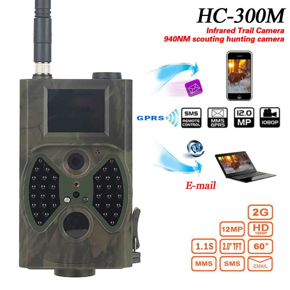 2017 Suntek Scouting GSM MMS GPRS Wildlife hunting trail camera hc300m 12MP 940NM Thermal night vision invisible security camera
