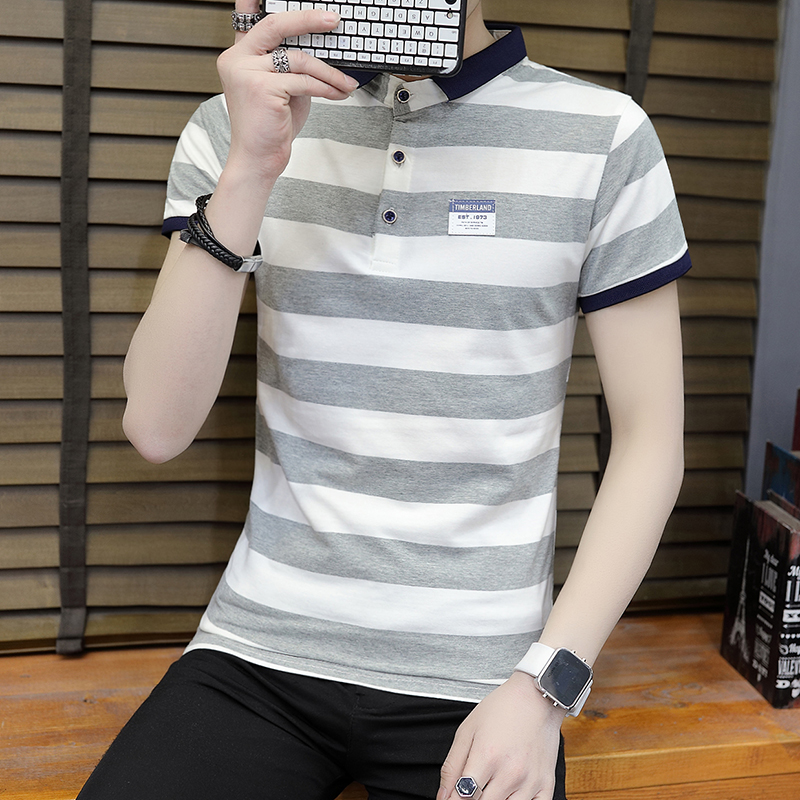 New summer high quality striped short sleeve polo shirt men brand clothing fashion Korean casual slim fit male camisa 9018Z 1