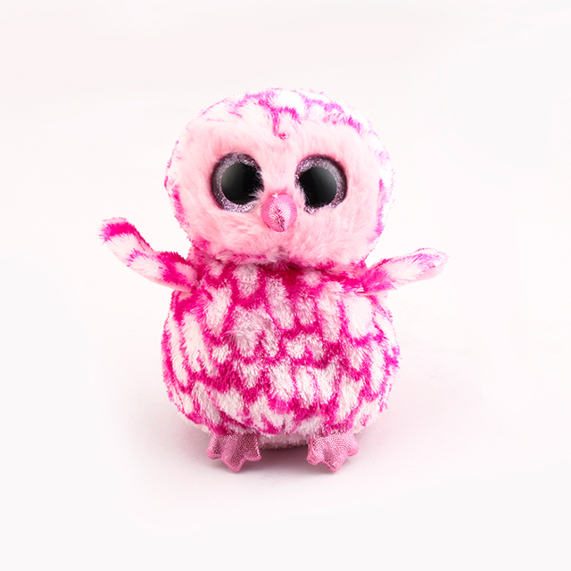 Ty Beanie Boos Big Eyes Plush Toy Doll 10 - 15cm Pink Owl TY Baby For Kids  Birthday Gifts 5eac5c92e8e