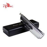 16 Holes 64 tone SWAN 1664 C Key boat shape chromatic harmonica