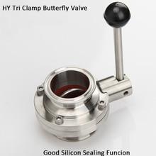 """2.5"""" 3""""Sanitary  Tri Clamp Butterfly Valve OD57/K77.5  OD63/K77.5  OD76/K91 SS304 Stainless Steel Butterfly Valve Homebrew"""
