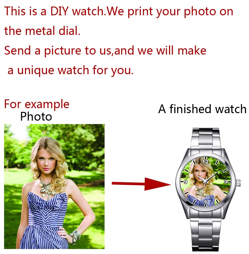Image 4 - A3313 Cusrom logo Watch photo print Watches watch face Printing Wristwatch Customized Unique DIY Gift For lovers-in Lover's Watches from Watches