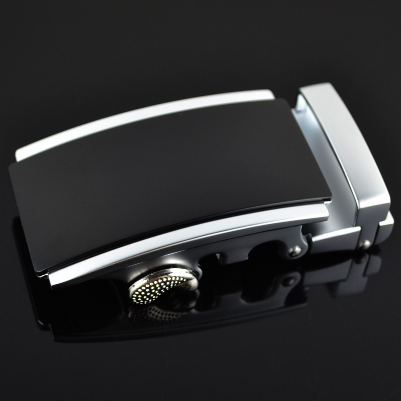 3.5cm Width Automatic Belts Buckle Men Belt Genuine Leather Luxury Brand Bucle Black CE25-0169