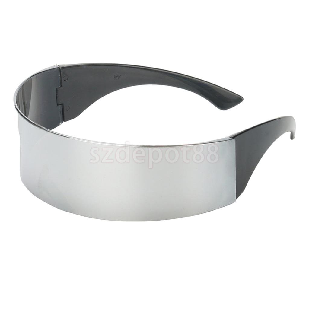 3//set Novelty Futuristic  Mirrored Sunglasses Glasses Costume Props