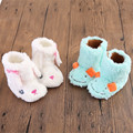 Kids Winter First Walkers Warming Soft Bottom Unisex Baby Cartoon Winter Boots Indoor Shoes Infant Toddler Lovely Booties Crib