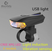 2016 Intelligent CREE XPG LED Ultra Bright Bike MTB Cycling Bicycle Front Head Light Safelight Lamp