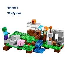 Lepin 18001 kits de edificio modelo compatible con lego mi mundo minecraft bloques educativos juguetes y pasatiempos para niños 21123