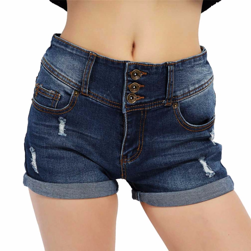 2018 Summer Autumn Denim   Shorts   Women Ladies' Casual Sexy Ripped High Waist Jeans   Shorts   Women Clothing Large Size   Short   Jeans