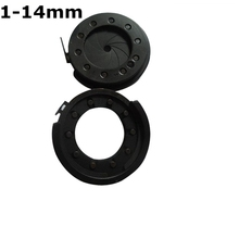 Sale 1-14 mm Durable Amplifying Diameter Metal Zoom Optical Iris Diaphragm Aperture Condenser for Digital Camera Microscope Adapter