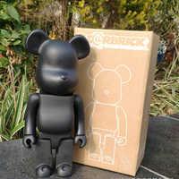 11 polegada 400% bearbrick bear @ tijolo figuras de ação bloco urso pvc modelo figuras diy pintura bonecas crianças brinquedos crianças presentes aniversário