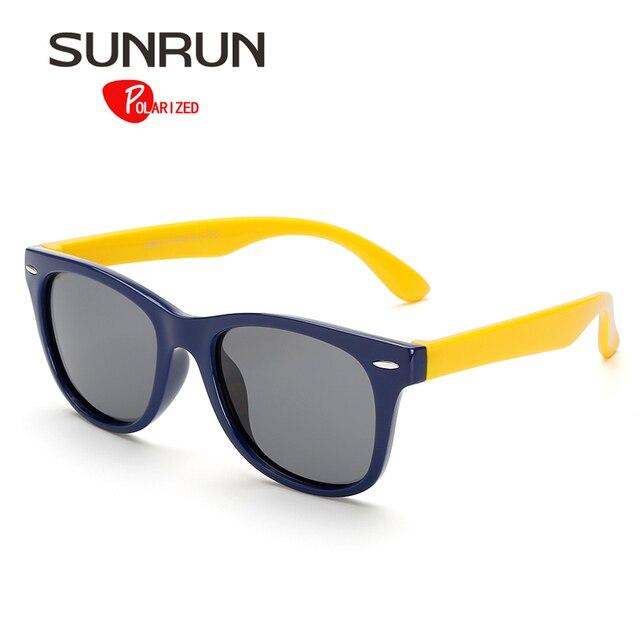 SUNRUN Enfants lunettes de Soleil Polarisées Classique Bébé Enfants TR90  Sécurité Revêtement Lunettes de Soleil UV 3dff4967aac6