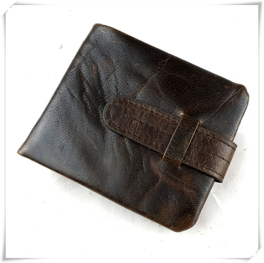 Luxury Vintage Designer Men Wallet 100% Real Cow Leather Male Short Bifold Wallet Purses Card Holder  Male Carteira wallets vintage designer 100