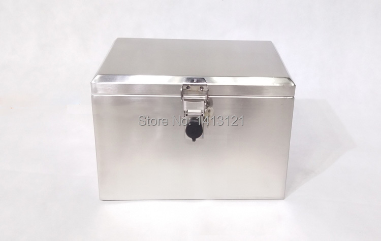 portable stainless steel toolcase home storage tool box Tool Packaging equipment transport side box motorcycle trunk case