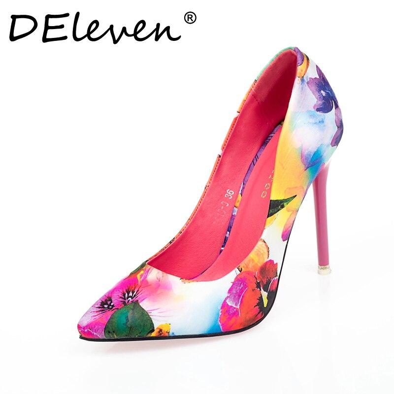DEleven Pelle Latest Trend Style scarpe Flower Printing Pelle DEleven Sexy   214c39