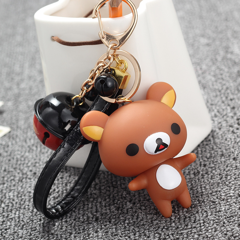 Wholesale 30pcs Kawaii Mini Rilakkuma Bell Charm Phone Pendant Accessories Gadget Handbag Decor Keychain Straps Free Shipping Orders Are Welcome. Collectibles