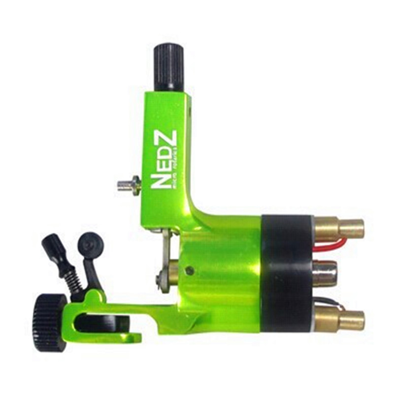 Wholesale Price Professional NEDZ Style Rotary tattoo machine Gun Liner Shader Green for tattoo kit needles grip Supply wholesale price foot control pedal for welding machine