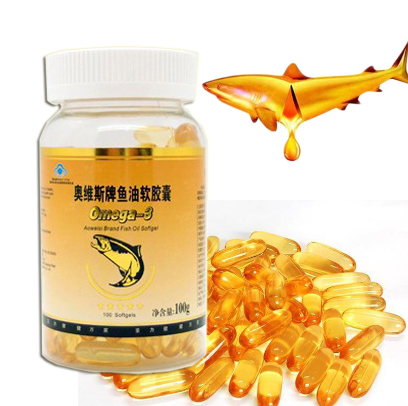 3 bottles/lot Health care food best fish oil refined fish oil capsule for immune adjustment free shipping