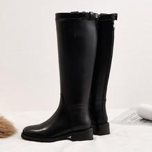 Vangull Vrouwen Echt Lederen Laarzen Mode Handgemaakte Classic Puntschoen Europese En Amerikaanse Mode Vrouwen Knie-Hoge Laarzen