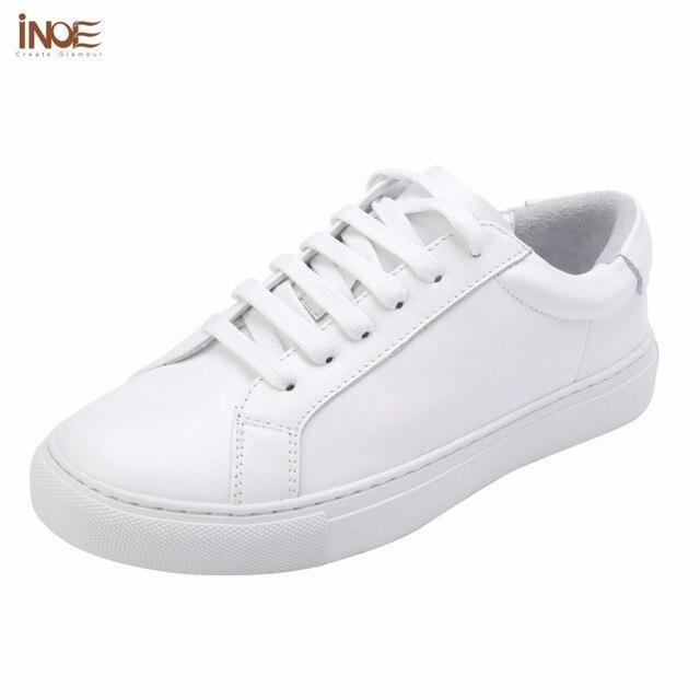 Inoe/модные стильные женские весна-осень кроссовки обувь для отдыха на плоской подошве натуральная кожа коровы Женские повседневные туфли-лоферы белый