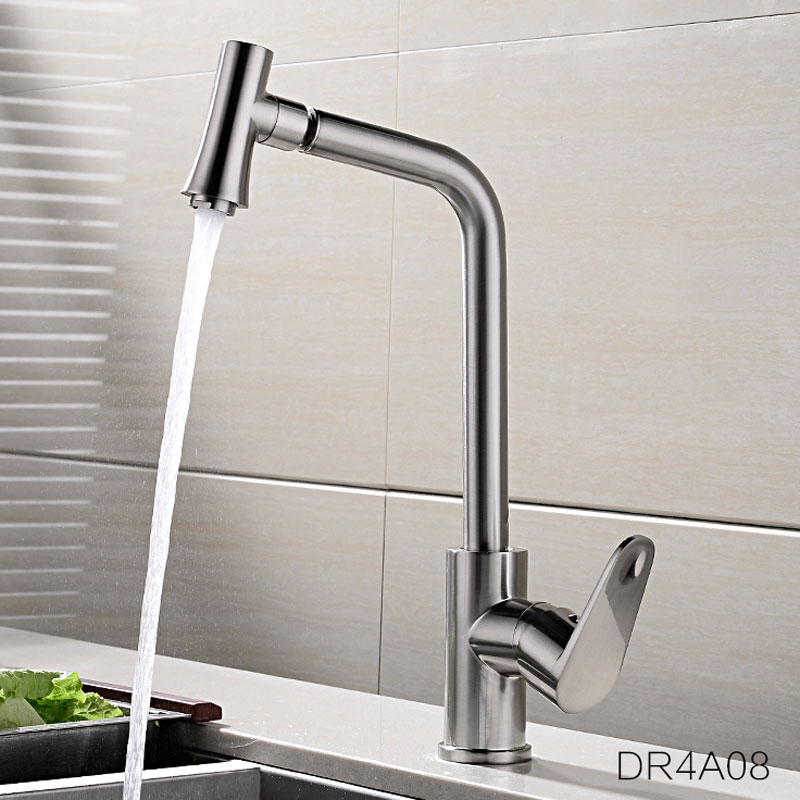 hot and cold Kitchen Faucets Nickle Brushed Surface Mixer Tap Brass Water Taps Deck Mounted Kitchen Faucet двухколесный велосипед stels pilot 110 12 розово белый