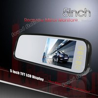 5 inch Color LCD Car Monitor Rear View Mirror Parking Mirror Monitor / Automotivo Auto Screen Rearview RCA Espelho Monitor