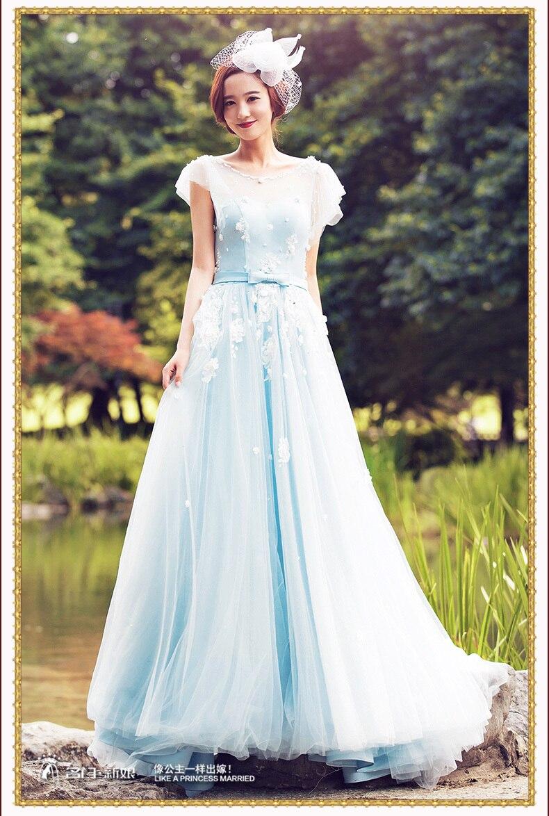 White dress dream meaning -  Meaning Aliexpress Com A Bride Dream Sky Blue Wedding Dress 2016