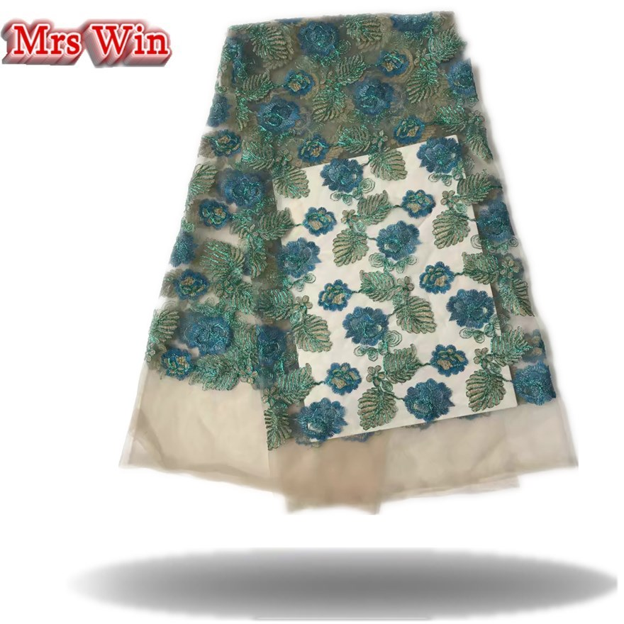 High Quality African lace fabric gold line Hot Sale African lace fabric 100% High Class Organza for Nigerian dress fabric