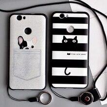 Huawei Nova Case 3D Relief Print Soft TPU Back Cover Case For Huawei Nova Women 5.0 inch Phone Protector Coque Shell