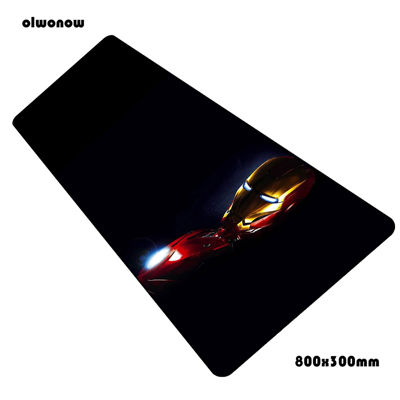 Iron Man mouse pad anime pad to mouse notbook computer mousepad thick  gaming padmouse gamer laptop 80x30cm mouse mats