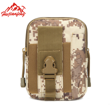 Polyester Waterproof Tactical Waist Bag Camouflage Outdoor Cycling Sports Small Bag Casual Travel Hiking Phone Bags цена