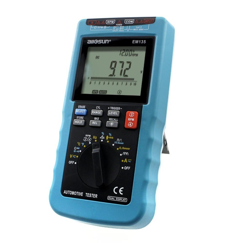 aca на мультиметре - all-sun EM135 Modern Digital Automotive Multimeter 20A ACA/DCA Max Autorange Automotive Tester Multimeter Function