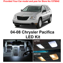 цена на Free Shipping 10Pcs/Lot car-styling 12v Xenon White/Blue Package Kit LED Interior Lights For Chrysler Pacifica 2004-2008