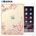 SIBAINA For Coque iPad Mini 4 Case Slim Soft TPU Plating Frame Secret Garden With Diamond Case for iPad Mini 4 Back Cover Case