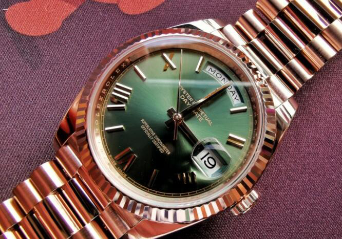 2019 New Brand Men's High Quality Sapphire Glass AAA+ Rose Gold Green Rome Dial Daydate Automatic Mechanical Self Wind Watch(China)