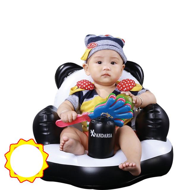 Nova Inflável Ampliou Engrossado Chinês National Treasure Panda Modelagem Bebê Inflável Sofá Fezes cadeira de Alimentação Falando
