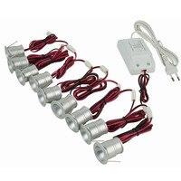9 pcs 저렴 한 1 w led 캐비닛 빛 램프 서랍 또는 가구 통 60/120 학위 ce 드라이버 25mm 절단에 이상적
