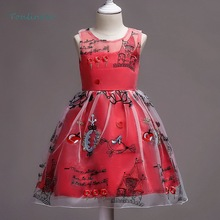 Child christmas cute girl embroidered princess dress festival party performance children clothing