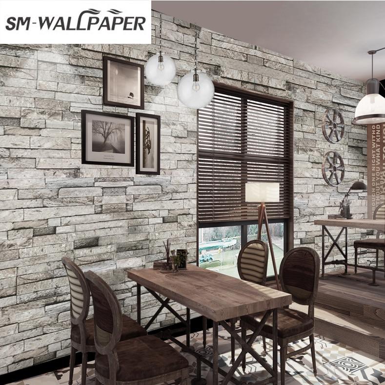papel de parede 3d Stone Brick Wallpaper Wall Paper Sticker Pattern For Living Room Home Background Restaurant Hot Sale