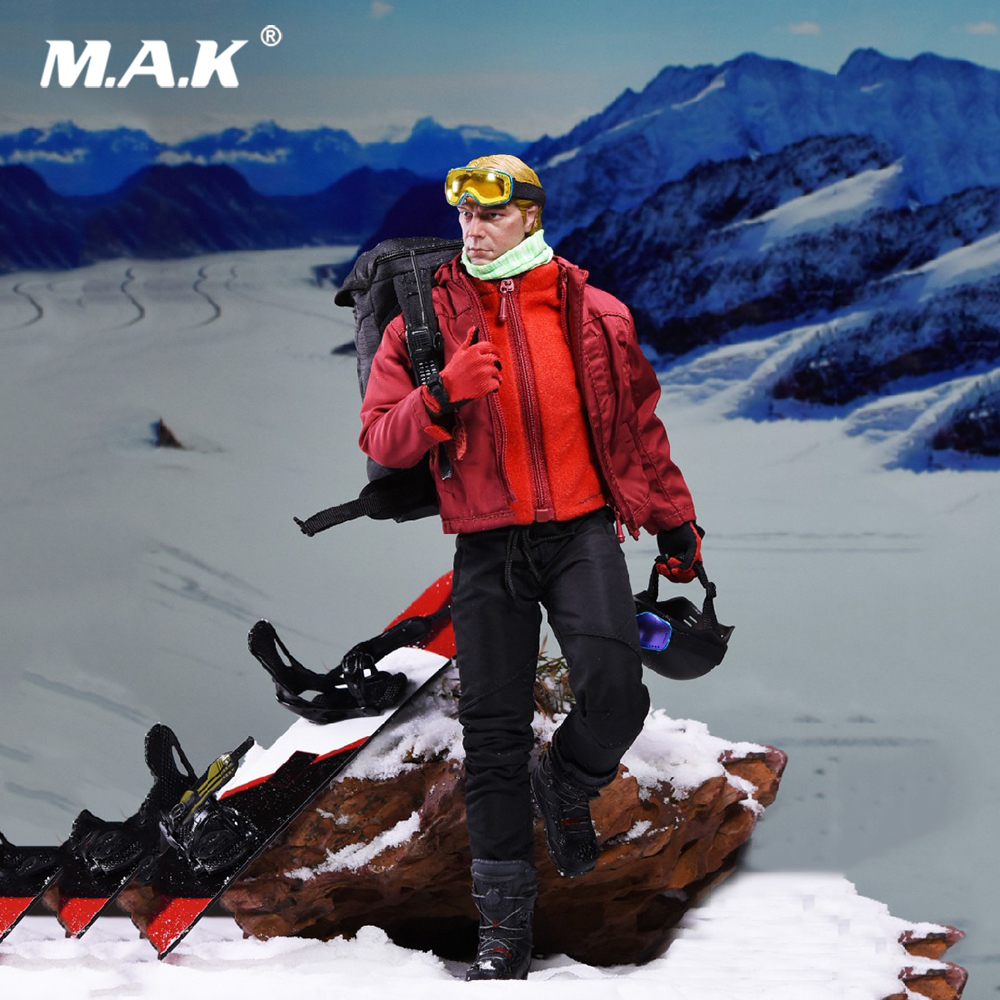 Collectible Full Set Male Action Figure 1/6 Scale SF-002 Speed Skier Life of Ice Model Toys for Fans Birthday Gift collectible model toys 1 6 scale male full set action figure cowboy light coat ver doc holliday rm012 box set figure
