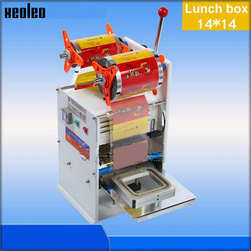 XEOLEO Zhou Black Duck Sealing Machine 110V Fast food box sealer Plastic box packing sealing Machine Could seal differen size футболка toy machine seal black